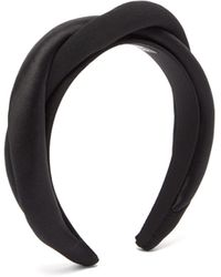 Sophie Buhai Twisted Silk-twill And Satin Headband - Black