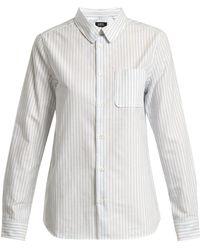 A.P.C. - Femme Oxford-cotton Shirt - Lyst