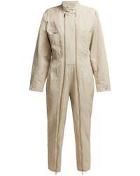 Stella McCartney Zipped Twill Boiler Suit - Natural