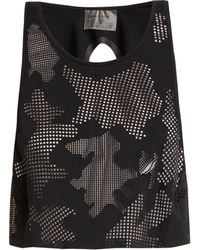 Charli Cohen - Lumen Perforated Front Jersey Cropped Top - Lyst