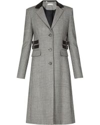 Altuzarra Annie Single Breasted Prince Of Wales Check Coat - Gray