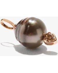 Dezso by Sara Beltran Diamond, 18kt Rose-gold & Tahitian Pearl Charm - Multicolor