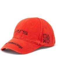 Balenciaga X Sony Playstation 5 コットンツイルキャップ - レッド