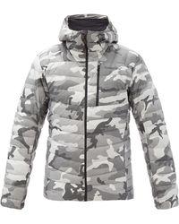 Norrøna Lyngen Hooded Camouflage Gore-tex Down Jacket - Gray