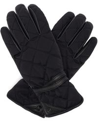 Bogner Cindy Quilted Soft-shell And Leather Gloves - Black