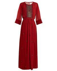 Velvet By Graham & Spencer - Lyla Bead-embellished Sheer Dress - Lyst