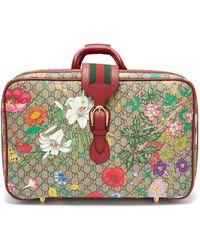 Gucci Valise en cuir et toile enduite GG Flora - Multicolore