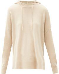 Allude Wool-blend Hooded Sweatshirt - Natural