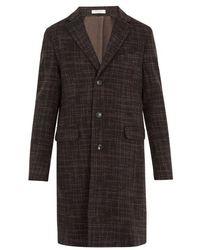 Boglioli - Single-breasted Checked Wool Coat - Lyst