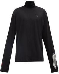 Raf Simons Blair Nebraska-print Cotton Long-sleeved T-shirt - Black