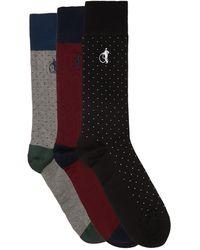 London Sock Company Spot Of Style コットンブレンドソックス X3 - マルチカラー