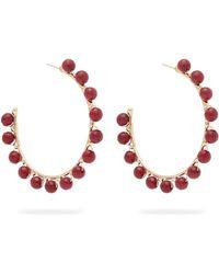Rosantica By Michela Panero - Dada Beaded Hoop Earrings - Lyst