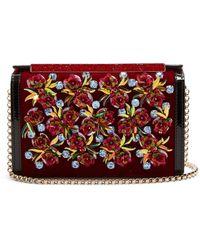 Christian Louboutin - Vanite Flower Embroidered Velvet Clutch - Lyst