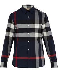 Burberry Shirt For Men - Blue