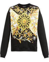 Versace バロックプリント スウェットシャツ - ブラック