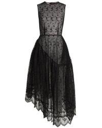 Simone Rocha - Asymmetric-hem Floral-lace Dress - Lyst