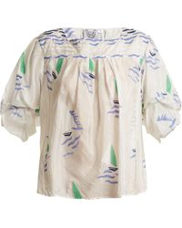 Thierry Colson | Rock The Boat Silk Top | Lyst