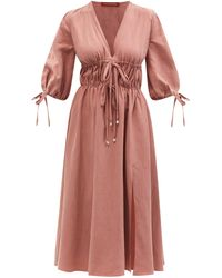 Altuzarra ドンリン ドローストリング ツイルドレス - ブラウン