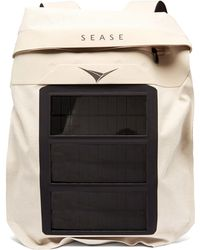 Sease Mission Solar Charger Linen Backpack - White
