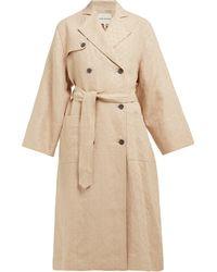 Mara Hoffman Trench-coat en lin à double-boutonnage Roberta - Neutre