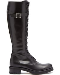 Rupert Sanderson - Duncan Lace Up Knee High Leather Boots - Lyst