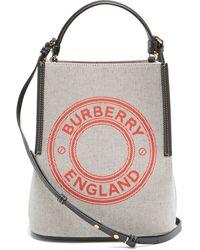 Burberry ペギー キャンバス バケットバッグ - マルチカラー