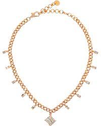SHAY ラディアント ダイヤモンド 18kローズゴールドチョーカー - マルチカラー