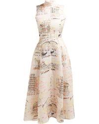 Emilia Wickstead - Sheila Italy Print Midi Dress - Lyst