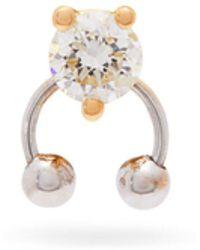 Delfina Delettrez - Diamond & 18kt Gold Single Earring - Lyst