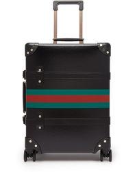 Gucci X Globe Trotter Web-stripe Carry Case - Black