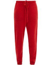 The Elder Statesman Drawstring-waist Cashmere Track Pants - Red