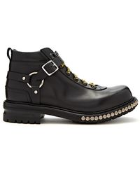 Alexander McQueen | Harness Leather Hiking Boots | Lyst