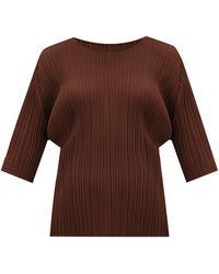 Pleats Please Issey Miyake Tシャツ - ブラウン