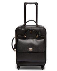 Dolce & Gabbana Sicily Leather Suitcase - Black