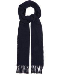 Raey Mesh Wool Blend Scarf - Blue