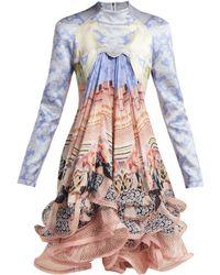 Mary Katrantzou - Robe courte en soie imprimée Powdy - Lyst