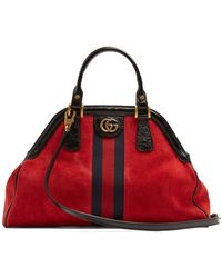Gucci - Linea Suede Tote Bag - Lyst