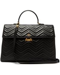 Gucci - Gg Marmont Leather Briefcase - Lyst