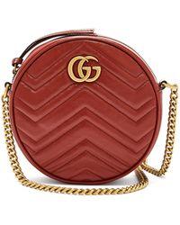 Gucci - 【公式】 (グッチ)〔GGマーモント〕コインパースハイビスカスレッド レザーレッド - Lyst