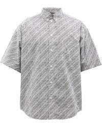 Balenciaga ロゴ コットンポプリン ショートスリーブシャツ - ホワイト