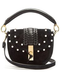Altuzarra - Ghianda Mini Braided-leather Suede Shoulder Bag - Lyst