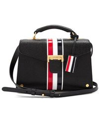 Thom Browne - Mrs Thom Striped-detail Leather Bag - Lyst