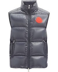 2 Moncler 1952 Logo-patch Quilted Down Gilet - Blue