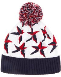 Perfect Moment Star-jacquard Wool-blend Beanie Hat - White