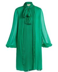 By. Bonnie Young - Neck Tie Silk Chiffon Dress - Lyst