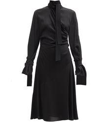 Sportmax ラリックス ハイネック ドレス - ブラック