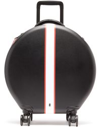 OOKONN Front-stripe Circular Cabin Suitcase - Black