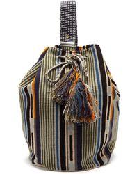 Guanabana Tula Striped Woven Backpack - Multicolour