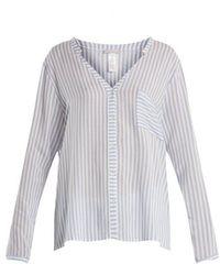 Hanro - Striped Patch-pocket Shirt - Lyst