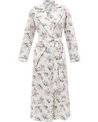 Emilia Wickstead Amana Floral-print Cotton Bathrobe - White